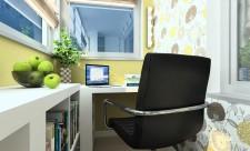 """Сейчас работа на дому - вполне распространённое и привычное явление. Многие люди не хотят тратить время и деньги на проезд до офиса и обратно и предпочитают трудиться в домашней обстановке, зная, что родные и близкие рядом. И возникает вопрос выделения комнаты под рабочий кабинет. К сожалению, не все являются счастливыми обладателями просторных квартир в несколько комнат - создать полноценную рабочую зону в """"однушке"""" довольно-таки затруднительно. Но не стоит отчаиваться, если в квартире есть балкон или лоджия. Здесь можно сделать уютный кабинетик, где можно не только работать, но и отдыхать от работы. Если вы - владелец малогабаритной квартиры, то и балкон, как правило, не может похвастаться большой площадью. Это значит, что мебель для будущего кабинета на балконе - рабочий стол и кресло - должна быть компактной и занимать меньше половины свободного пространства. Собственно, кроме кресла и стола, больше никакой мебели и не нужно - такое маленькое пространство не должно быть загромождено множеством предметов. Следует оставить максимум простора. Стоит позаботиться и о правильном освещении будущего кабинета. Балкон хорош тем, что днём он идеально освещён. Вечером же, особенно если вы работаете допоздна, потребуется дополнительное освещение. Основная проблема балконов и лоджий - это, как правило, отсутствие розеток. Выйти из этого положения можно, приобретя светильник на солнечной батарее: днём она будет заряжаться, а вечером - обеспечивать свет. Обычно на полу балкона нет никакого покрытия, поэтому в холода там не слишком уютно. Эту проблему можно легко решить, утеплив стены и постелив на пол тёплый мохнатый ковёр. Тогда балкон будет функционировать как полноценная рабочая зона, и весьма уютная, даже зимой. И последнее - не стоит забывать о декоре. Несмотря на то, что в кабинете должна быть рабочая атмосфера, его нужно обязательно украсить, чтобы там было комфортно находиться. В качестве украшений интерьера можно использовать комнатные растения, небольшую книжную полку"""