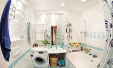 Свободное пространство в ванных комнатах