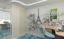 Комната для девочки-подростка в парижском стиле.