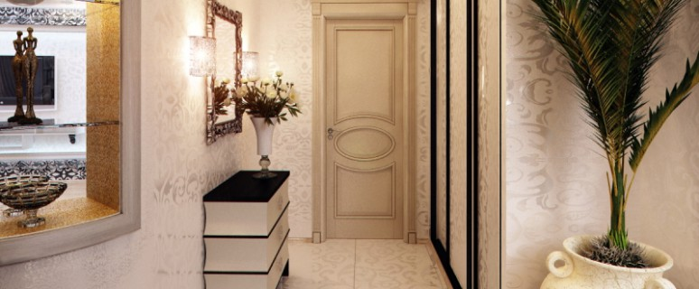 Визуально расширяем узкий коридор